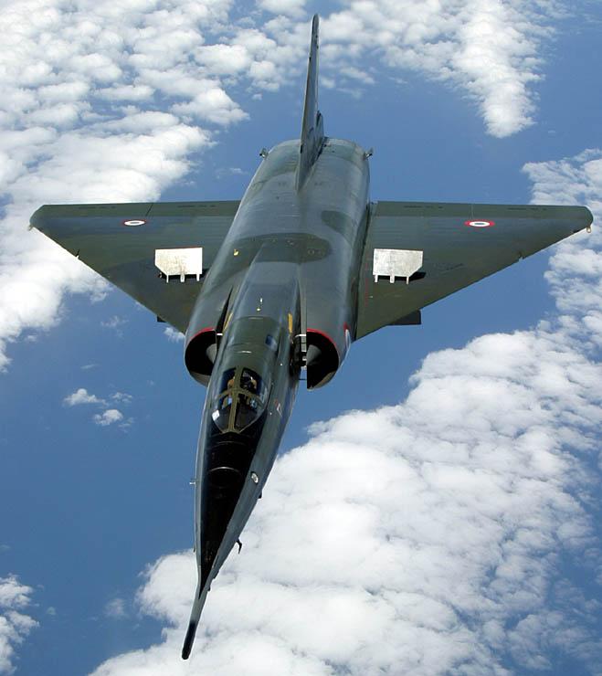 aerofreins sur Mirage IV